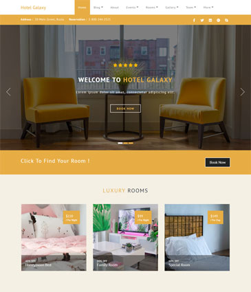 Premium WordPress themes for your website Hotel Galaxy Pro homepage hotel image 1   Premium Themes Wordpress Themes
