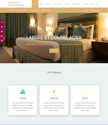 Premium WordPress themes for your website Hotel Galaxy Pro new htlg demo image   Premium Themes Wordpress Themes