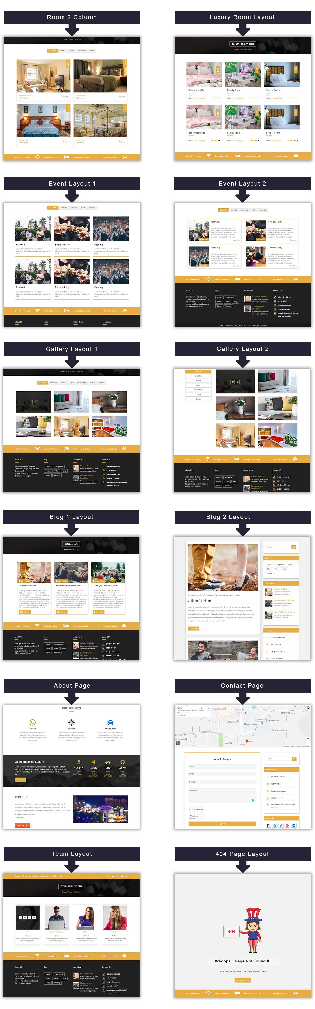 Premium WordPress themes for your website Hotel Galaxy Pro web hotel galaxy pages details   Premium Themes WordPress Themes