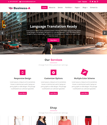 Premium WordPress themes for your website Business-A fontpage business a   Premium Themes Wordpress Themes