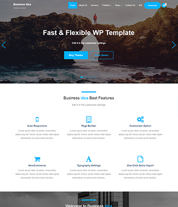 Premium WordPress themes for your website Business Idea Pro fontpage business idea   Premium Themes Wordpress Themes
